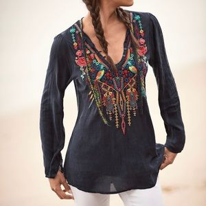Johnny Was Serendipity Embroidery-Bin Blouse